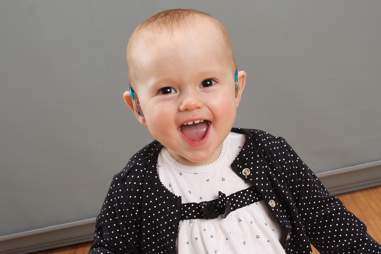 Windsor Altman with newborn hearing loss
