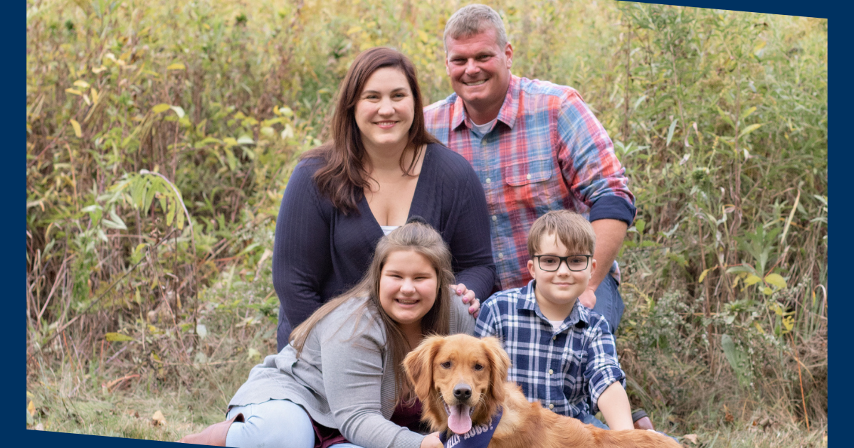 Dr Amanda Graf and family