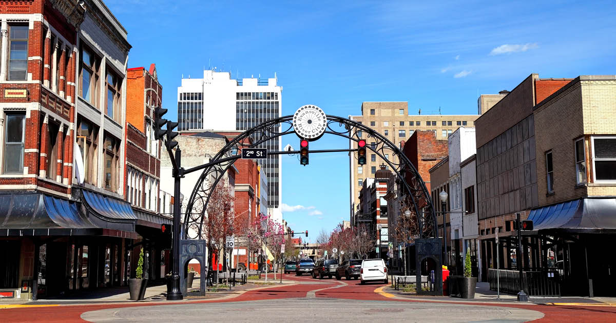 Downtown Evansville, Indiana